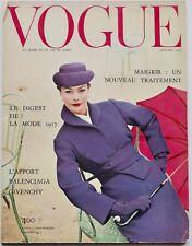 1950s vintage VOGUE PARIS couture fashion magazine Dior Balenciaga Givenchy 1956
