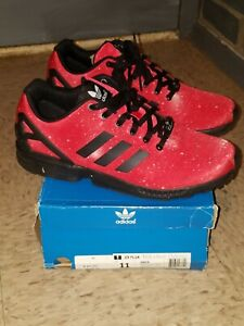 Adidas ZX FLUX (Red & Black Galaxy)*Size 11