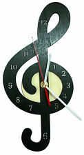 Orologio da muro CHIAVE di VIOLINO in legno oggetto artigianale