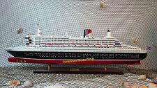 "QUEEN MARY II Cruise Ship 40"" - Handmade Wooden Ship Model"