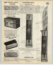 1926 PAPER AD Neft Safety Pocket Knife Knives 1920 Patent Date