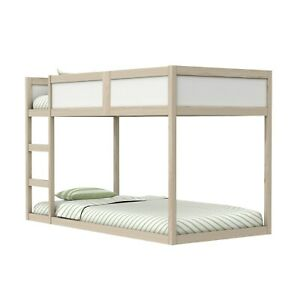 White Pine Low Bunk Bed - Transforms into a Cabin Bed! - Topsy