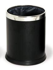 10L 10 Litre Round Waste Basket Bin Black Office Recycling Rubbish Container