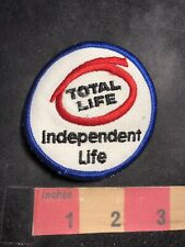 Vtg Independent Life TOTAL LIFE Advertising Patch 86N5