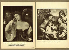 Young Woman & Man Holding Mirrors, Marriage of St. Catherine -  1910 Prints