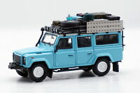 1/64 Land Rover Defender 110 Diecast Car Come With Luggage accessories Blue