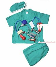 Halloween Doctor Nurse Surgery Surgeon Operation Kids Child Costume Uniform 3-8Y
