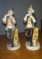 coppia vecchi suonatori di flauto Capodimonte