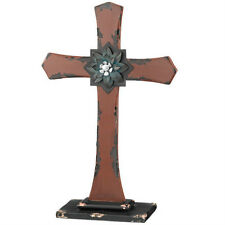 Tabletop Cross Rust Shabby Chic Style