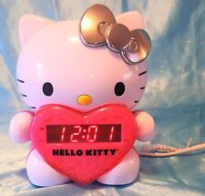 Hello Kitty Projection Clock AM/FM Clock Radio w/ Battery Back Up ~ EUC