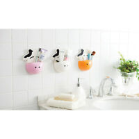 Home Bathroom Toothbrush Holder Wall Mount Suction Cup Toothpaste Storage MA