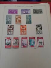 New ListingStamps Spain Colonies,7 pages hinged,various countries,good value,nice lot.