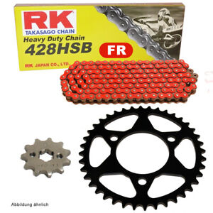 Chain Set Suitable For Rieju RS-2 Naked 125 05-10 Chain RK Fr 428 Hsb 130 Of