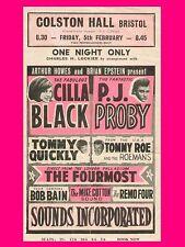 """Cilla Black / Pj Proby Bristol 16"""" x 12"""" Photo Repro Concert Poster"""