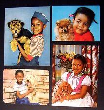 4 ViNtage 50s 60s Black AmeriCana ChiLdren KiDs Pet Dog Photo LiTho PriNt Ad Art