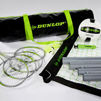 Volleyball Badminton Set Adjustable Net Full Accessories Easy Carry