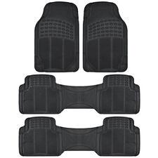 Heavy Duty All Weather 3 Row Black Rubber Floor Mats Fits Honda Odyssey