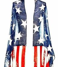 American Flag Vintage Look Shawl Scarf Wrap Coverup Top July 4th America Usa Us