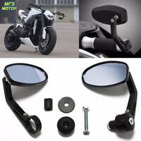 "7/8"" Handle Bar End Rearview Side Mirrors For Ducati Honda Suzuki Yamaha KTM"