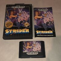 Sega Genesis Game STRIDER Complete - Tested Authentic Arcade Action Fun Classic