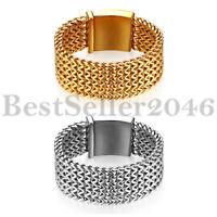 Heavy Stainless Steel 30MM 4-strand Large Wheat Chain Men Punk Biker Bracelet