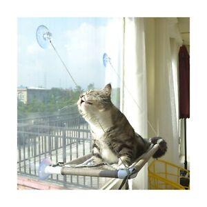 Cat Window Perch, Cat Hammock Window Seat, Space Saving Window Mounted Cat Be...