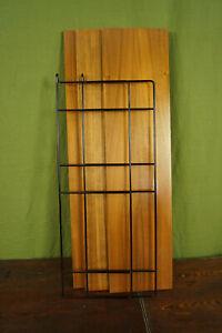 60er Bookcase Vintage String Shelf Walnut Wall Shelf Danish Shelf System 6