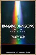 IMAGINE DRAGONS Evolve Tour 2017 Ltd Ed RARE Poster +FREE Indie Rock Alt Poster!