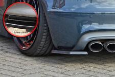 Approccio posteriore spoiler angoli parti laterali in ABS Audi TTS 8j NERO LUCIDO