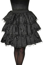 Womens Black Ruffle Skirt Gothic Victorian Witch Steampunk Cosplay Size Standard