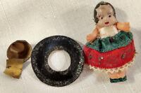 Antique Kewpie Celluloid Doll Mexican/Spanish Hat Girl VTG S Japan MIJ 1920s-30s