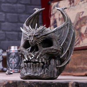 Nemesis Now Draco Skull Spiral Dark Gothic Dragon Figurine Spiral Ornament 19cm