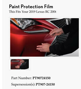 Lexus RC200t Hood/Fender Protection Film PT907-24150