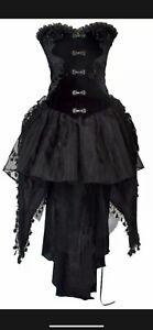 🖤 GOTHIC Punk Rave Kleid Viktorianisch Samt Spitze