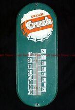 """Rare 1950s ORANGE CRUSH SODA Thermometer 15x6"""" Tavern Trove"""