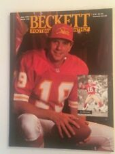 July 1993 Beckett Football Monthly pricing guide magazine JOE MONTANA Cover 49er