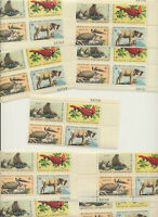 USA Wildlife Conservation #1464 - 1467 LOT of 10 Mint NH Se-Tenant Plate Blocks