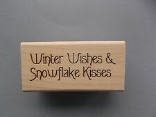 CREATIVE IMAGES RUBBER STAMPS CISTAMPS WINTER WISHES NEW wood STAMP