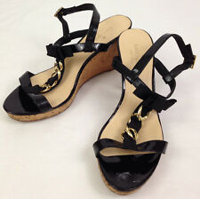 Kate Spade Cork Wedge Womens 8 M Size Flora High Heels Shoes Patent Leather Used