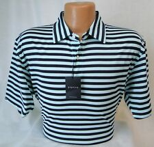 Dunning Golf Shirt Two Tone Stripe in Beach Glass Tour Quality MSRP $89 NWT - LG