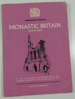 1954 Old Vintage OS Ordnance Survey Map of Monastic Britain South Sheet Second E