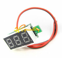 """10PCS 0.28"""" DC Digital Voltmeter Panel Mount LED Voltage Volt Meter Red 2.5-30V"""
