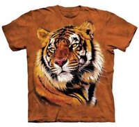 Tiger King Mountain Power And Grace Animal Orange Cotton T-Shirt Adult S-3X
