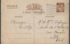 1947  ENTIER POSTAL CARTE POSTALE   TYPE  IRIS OBLIT PAU