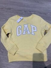 Girls Gap Kids Size Small Yellow BNWT Cotton Logo Sweatshirt Jumper