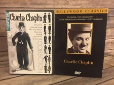 charlie chaplin Collection The Essential & Hollywood Classics 2 dvd lot Movies