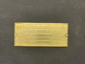 New Julien Brass Data Tag For Hit And Miss Antique Gasoline Engine