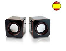 Altavoz Potencia 3W Set 2 altavoces para PC Ordenador Portatil con cable USB