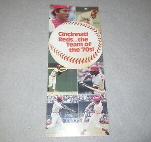 "☆ Vintage 1978 Cincinnati REDS ""Team of the 70's"" RARE Ticket Brochure Schedule"