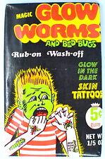 Fleer GLOW WORMS Sealed/Unopened Wax Pack (1971)